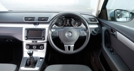 Clean and practical layout of Passat controls
