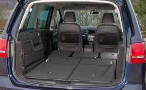 VW has very roomy loadspace, particularly with all rear seats folded