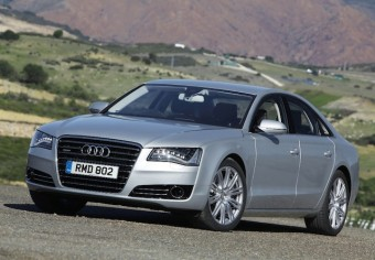 Audi A8 in action