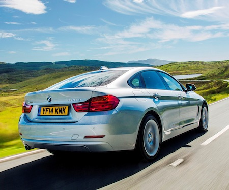 BMW 4 Series Gran Coupe rear side action