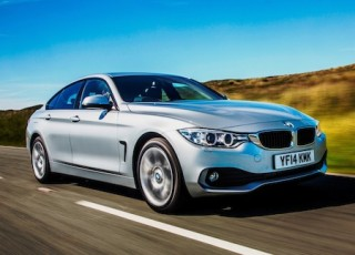 BMW 4 Series Gran Coupe side front action