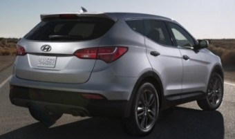 Hyundai Santa Fe static grey back