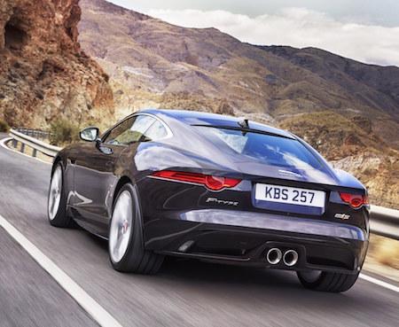 Jaguar 2016 F Type Coupe rear action