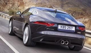 Jaguar F Type Coupe rear action