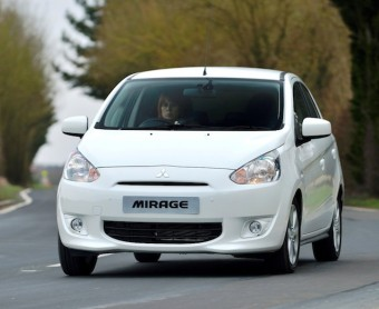 Mitsubishi Mirage front action