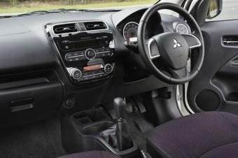 Mitsubishi Mirage front interior 2
