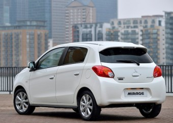 Mitsubishi Mirage side rear