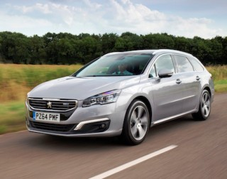 Peugeot revised 508 SW BlueHDi side front action