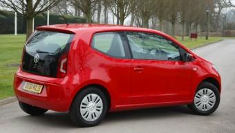 VW Move up! 1.0 litre 60 PS (2012), Tournado red, Danesfield House, Marlow, Bucks., UK