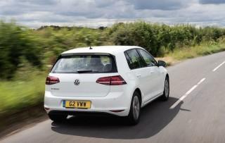 VW e Golf rear action