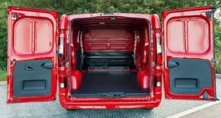 Vaux Vivaro rear open loadbed