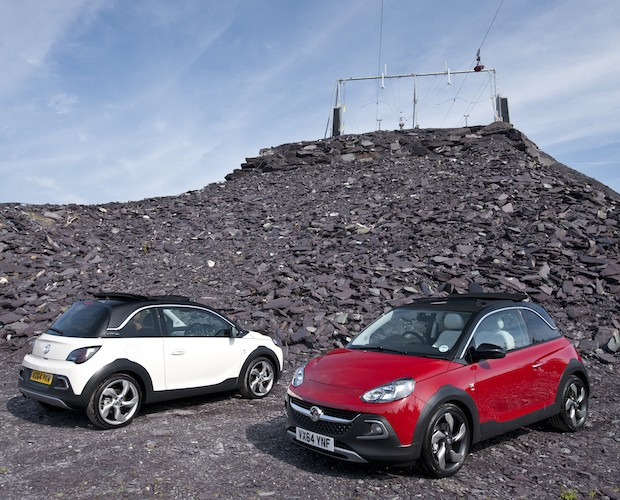 Vauxhall Adam Rocks duo ZipWorld