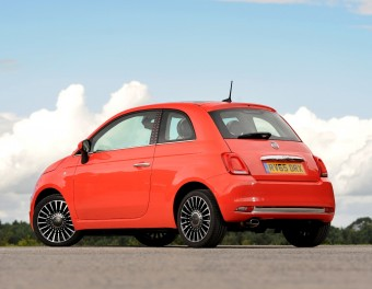 Fiat 500 Coral rear side view