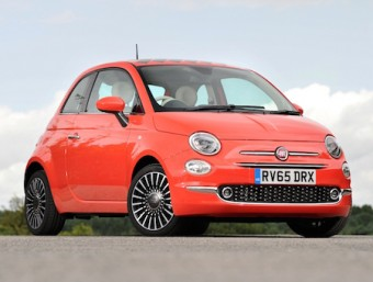 Fiat new 500 in Coral