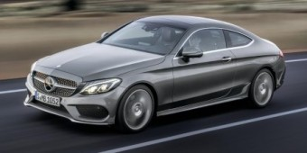 MB C Class Coupe side action 2016