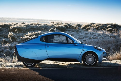 Distinctive profile of hydrogen car