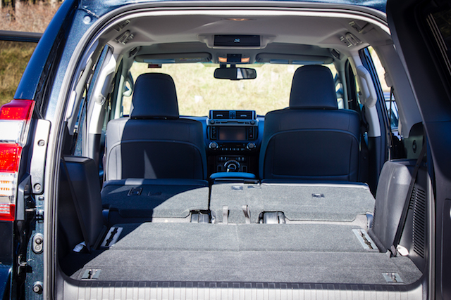 Vast space and two rearmost seats fold under floor