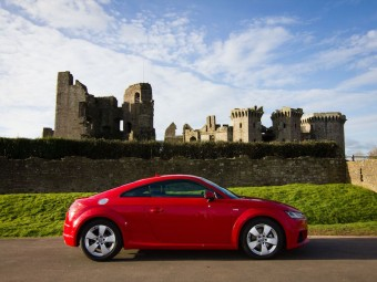 Raglan Castle backdrop for Audi TT