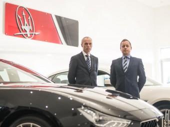 Peter Denton and Lyn Evans Motorline Maserati