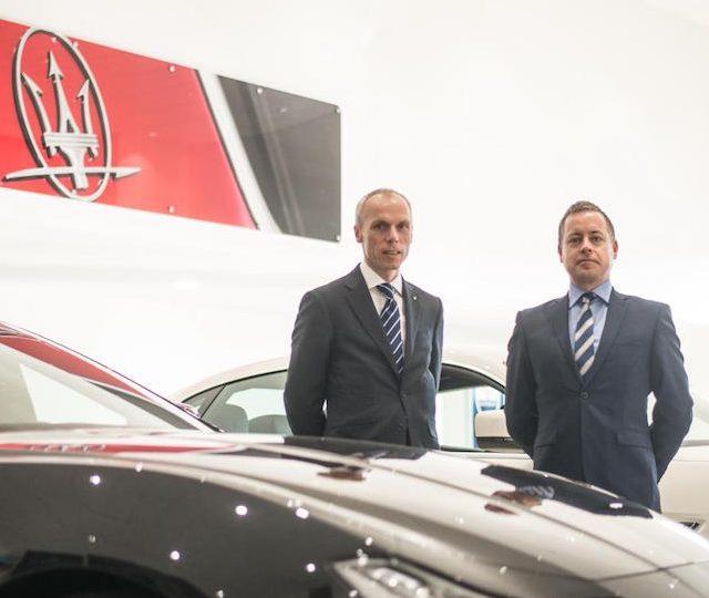 Peter Denton & Lyn Evans in Motorline Maserati Cardiff