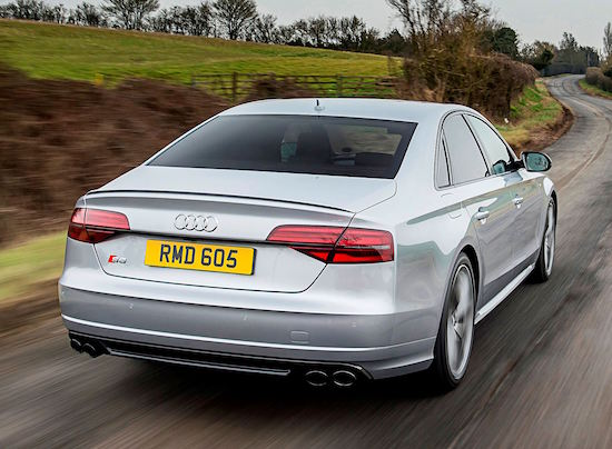 The view most will get of the Audi S8 Plus