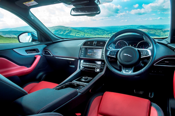 Not as classy interior as you might expect from Jaguar