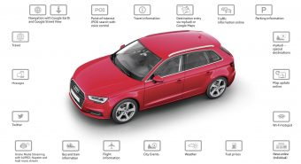 Audi A3 bristles with latest technology