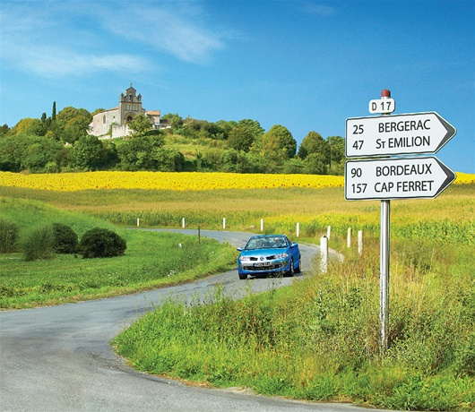 Inviting French roads are most popular, image courtesy of Brittany Ferries