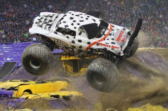 Action on four, two wheels and none at all in Monster Jam Cardiff