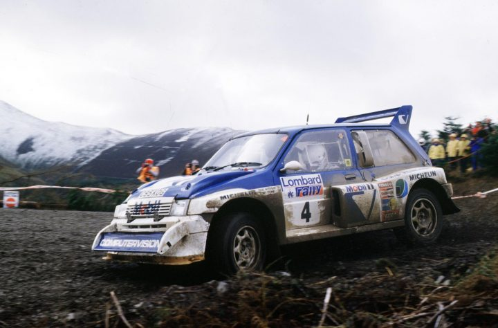 Tony Pond's MG Metro 6R4 on the 1986 Rally GB