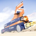 Supersonic car must wait for paint to dry