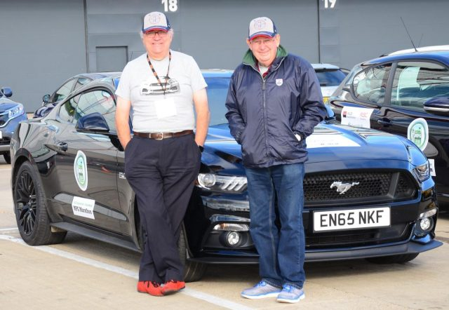 Dawson and Marriott with the Ford Mustang