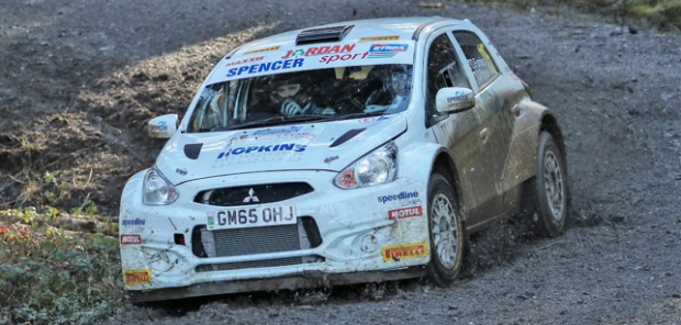 Osian Pryce won Cambrian Rally first time out in RHD car, image courtesy of ni-media