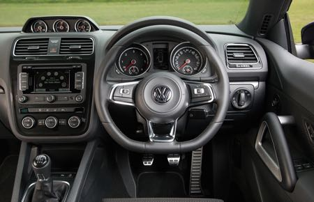 Busy but inviting and enjoyable interior Scirocco