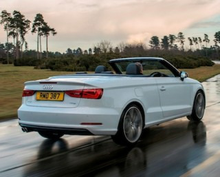 Aiudi A3 Cabriolet rear action roof down