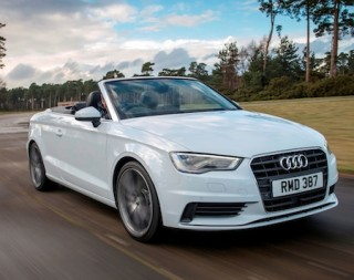 Audi A3 Cabriolet front action roof down