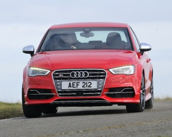 Audi S3 Saloon front action