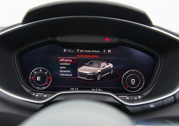 Audi TT Roadster virtual fascia