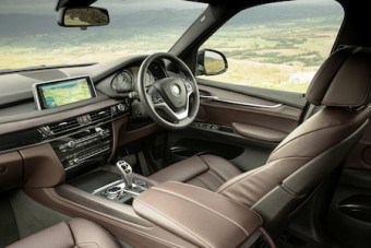 BMW X5 front interior