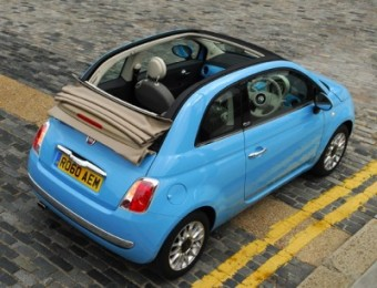 Fiat 500C Twin Air open back