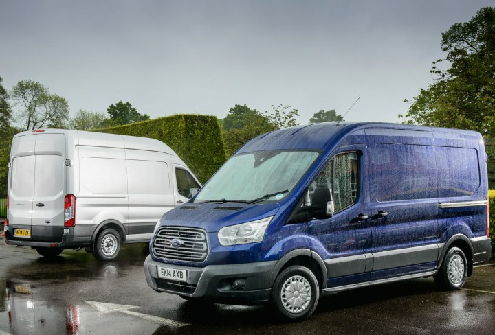 Ford Transit duo blue side 3
