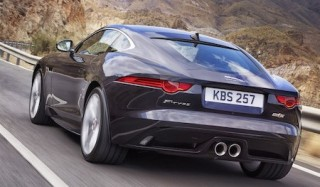 Jaguar F Type Coupe rear action