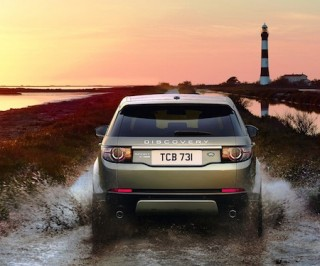 Land Rover Discovery Sport rear off road action