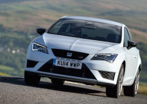 SEAT Leon Cupra action front