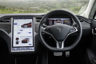Tesla cabin Wales