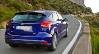 The new Ford Focus back action hills trimmed
