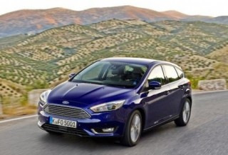 The new Ford Focus front action hills