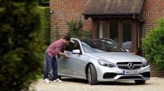 Thief trying car