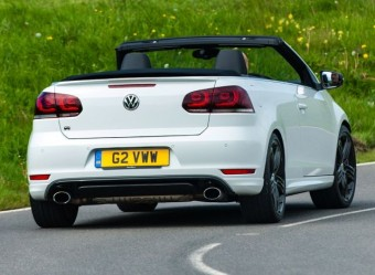 VW Golf R Cabriolet hood down