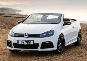 VW Golf R Cabriolet static beach